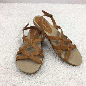 BCBGirls Flat Strappy Sandals 6B New w/out Box